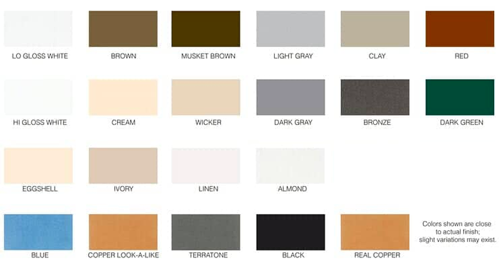 Products Color Options Eagle Seamless Gutter Inc